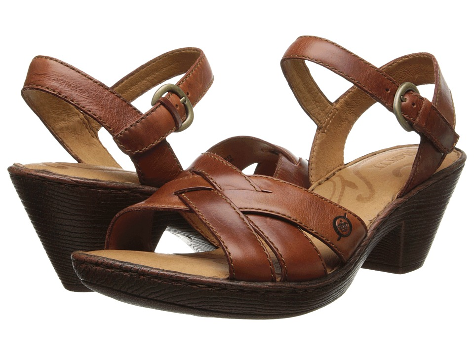 Born - Belinda Sandal (Bag Pipe (Rust) Full Grain Leather) High Heels