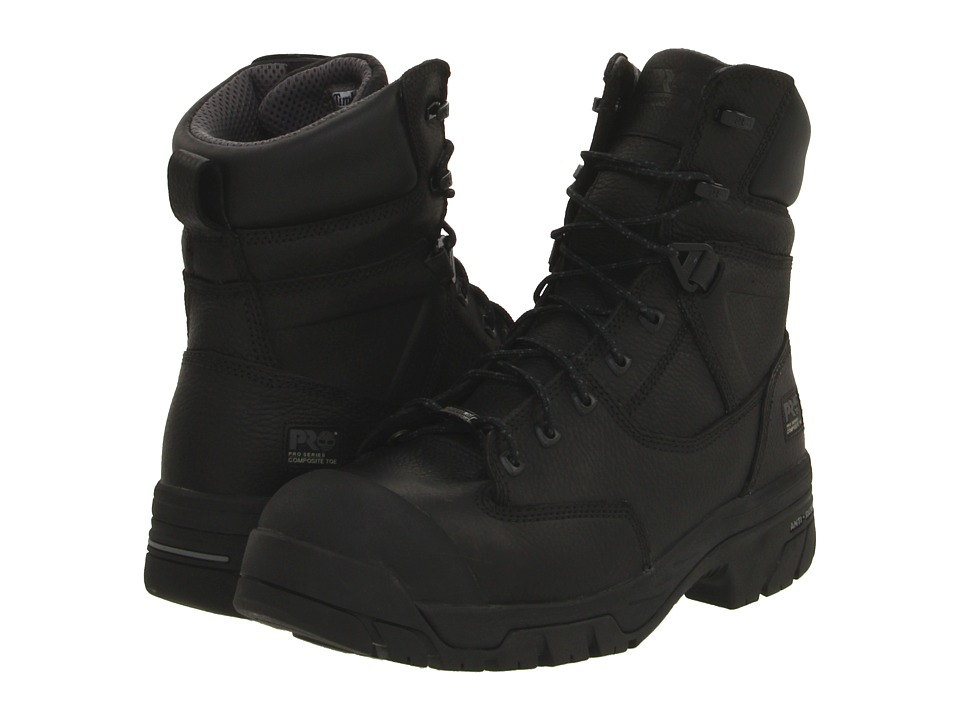 Timberland PRO - Helix 8 Waterproof Composite Toe (Black) Men's Work Boots