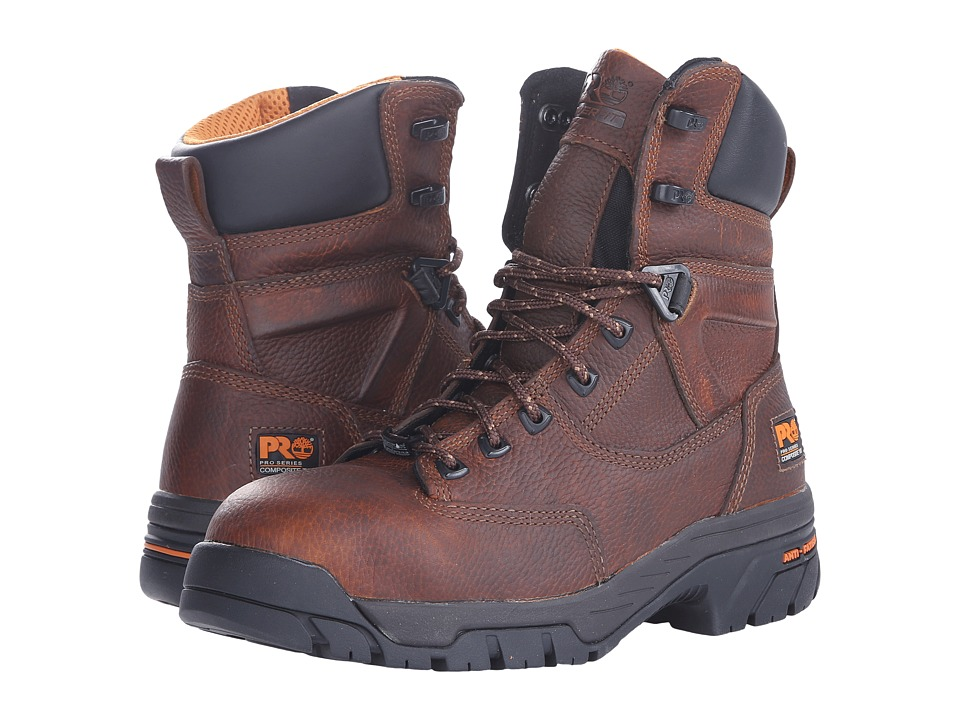 Timberland PRO - Helix 8 Waterproof Composite Toe (Brown) Men's Work Boots