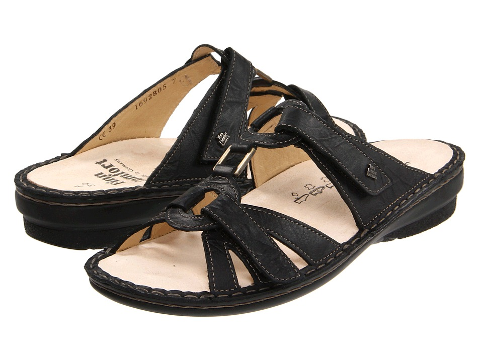 Finn Comfort - Soft Cebu - 82800 (Black Plissee Light) Women's Sandals