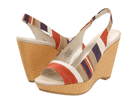 Anne Klein Fortuna (Red Multi) Women's Toe Open Shoes