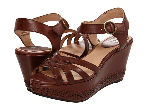 Frye - Carlie 2 Piece (Dark Brown Veg Tan) Women's Wedge Shoes
