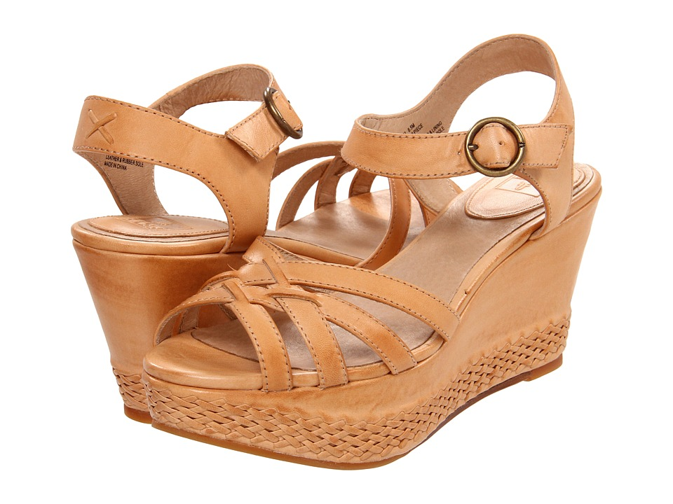 Frye - Carlie 2 Piece (Natural Veg Tan) Women's Wedge Shoes