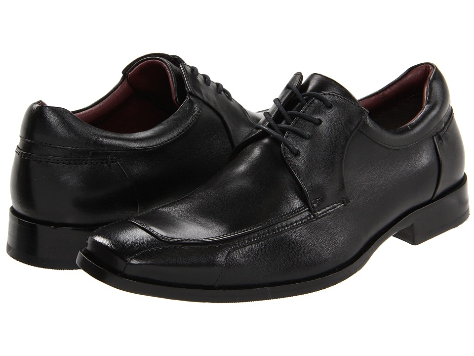 Johnston & Murphy - Shaler Runoff Lace-Up (Black Calfskin) Men's Shoes