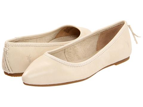 Frye - Regina Ballet (Off White Soft Vintage Leather) Women's Slip on Shoes