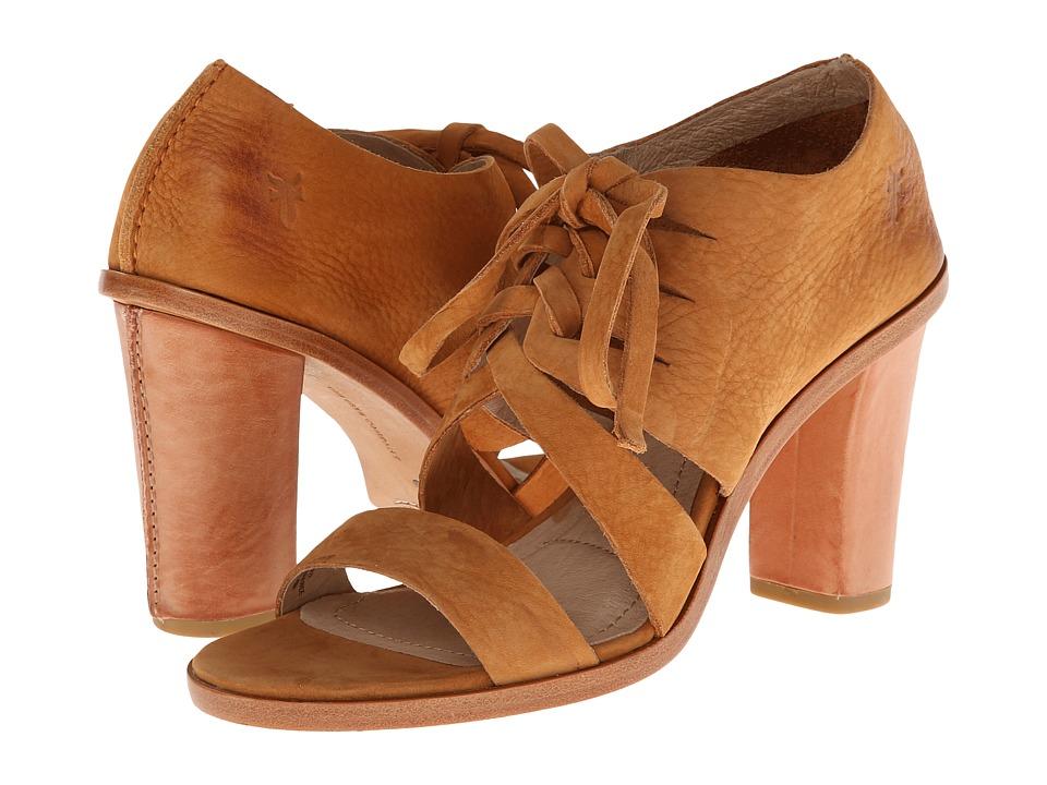 Frye - Sofia Tie On (Camel Nubuck) High Heels