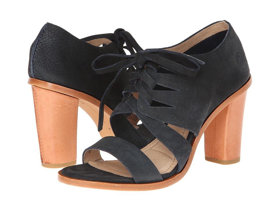 Frye - Sofia Tie On (Navy Nubuck) High Heels