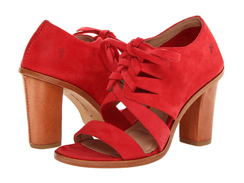 Frye - Sofia Tie On (Red Nubuck) High Heels