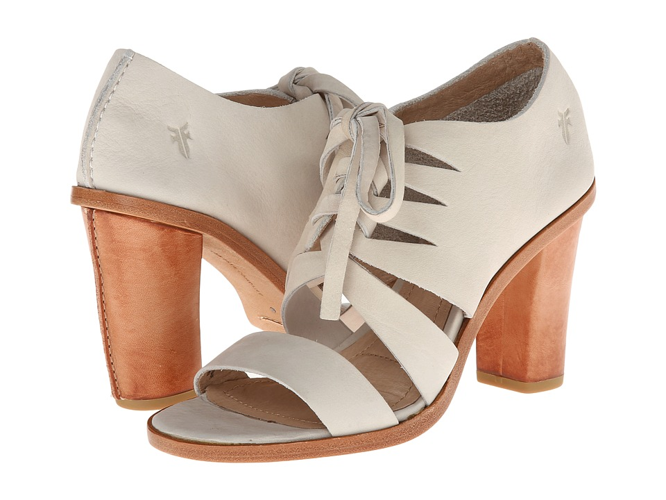 Frye - Sofia Tie On (White Nubuck) High Heels