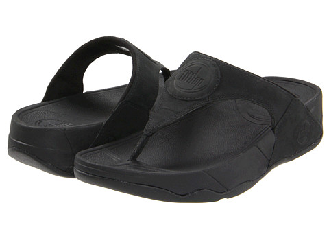 FitFlop WalkStar III Nubuck (Black Nubuck) Women's Sandals