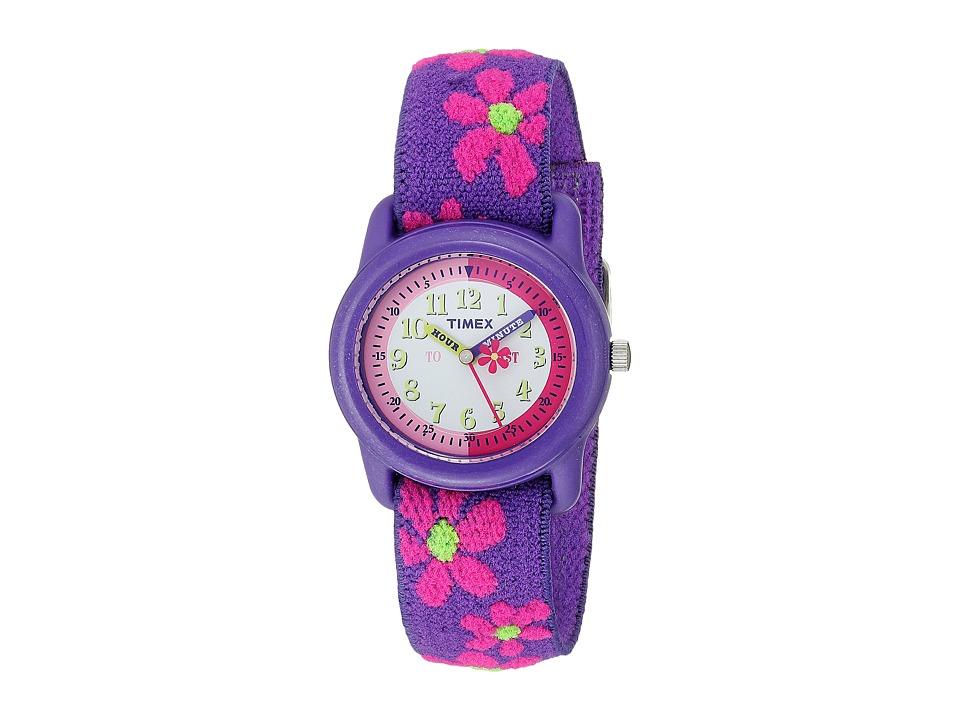Timex - Children's Time Teacher Flowers Stretch Band Watch (Purple) Watches