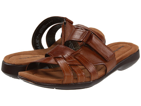 Hush Puppies - Delite Slide (Tan Leather) Women's Sandals