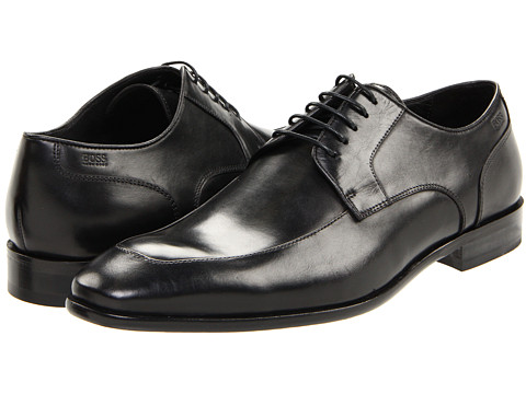 BOSS Black - Mettor (Black) Men's Lace Up Moc Toe Shoes