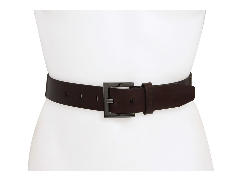 Calvin Klein - CK Square Buckle (Brown) Women's Belts
