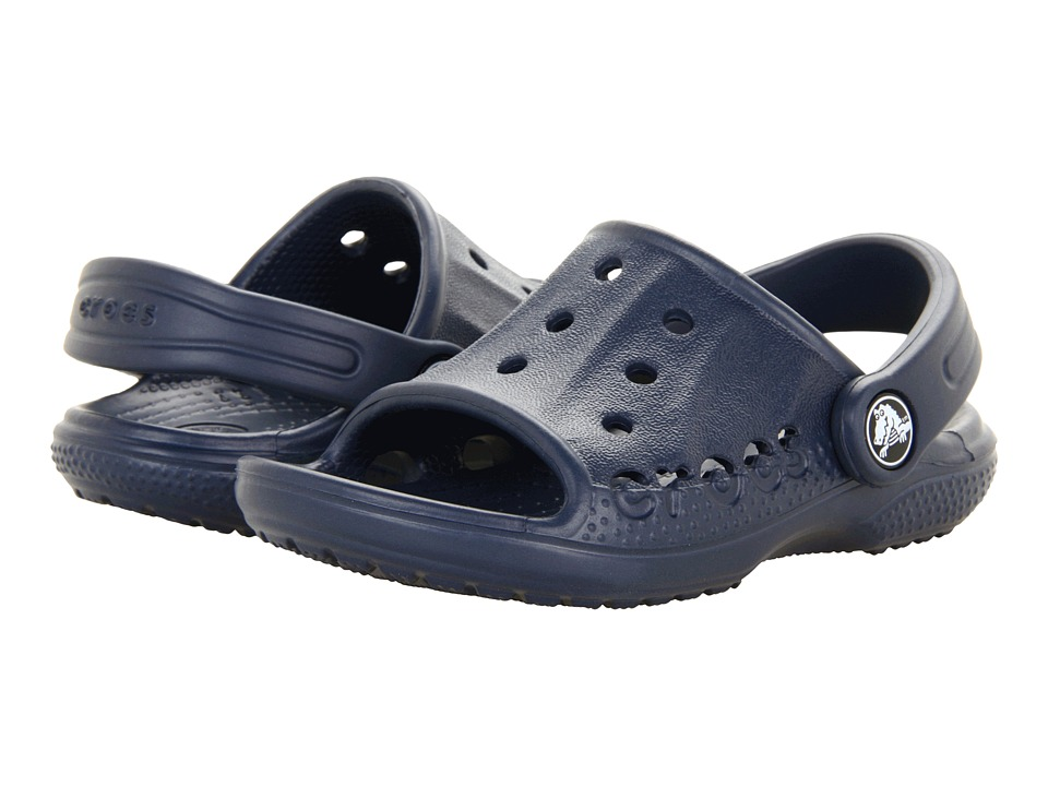 Crocs Kids - Baya Slide (Toddler/Little Kid) (Navy) Kids Shoes