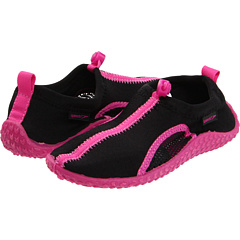 SALE! $14.99 - Save $9 on Speedo Kids Shorecruiser (Little Kid Big Kid) (Black Hot Pink) Footwear - 37.54% OFF $24.00