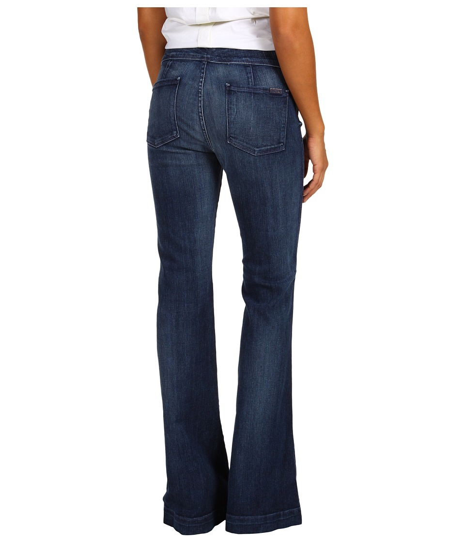 7 For All Mankind - Erin Wide Leg Trouser in Washed Bohemian Blue 2 (Washed Boheme Blue 2) Women's Jeans