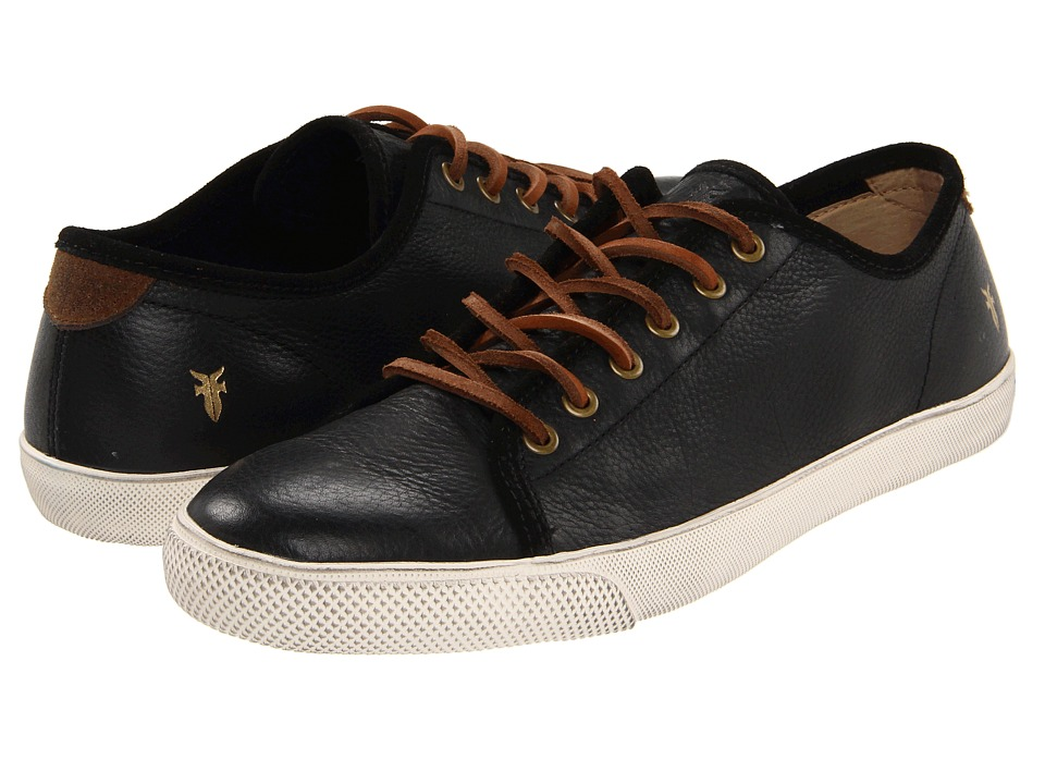 Frye - Chambers Low (Black Soft Pebbled Full Grain/Suede) Men's Lace up casual Shoes