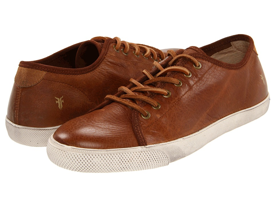 Frye - Chambers Low (Cognac Soft Pebbled Full Grain/Suede) Men's Lace up casual Shoes
