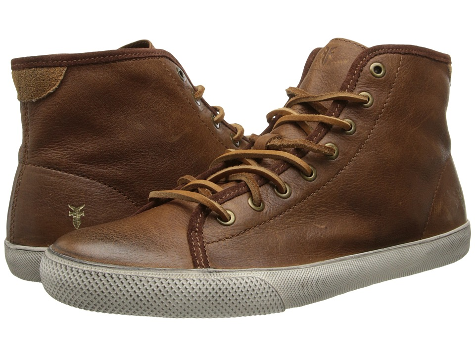 Frye - Chambers High (Cognac Soft Pebbled Full Grain/Suede) Men's Lace up casual Shoes