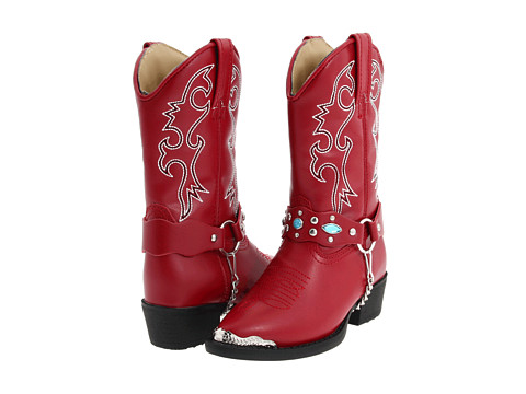 Laredo Kids - Little Concho (Toddler/Little Kid) (Red) Cowboy Boots