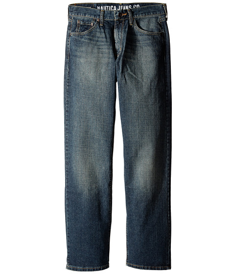 Nautica - Loose-Fit Crosshatch Jean in Crossed Indigo (Crossed Indigo) Men's Jeans