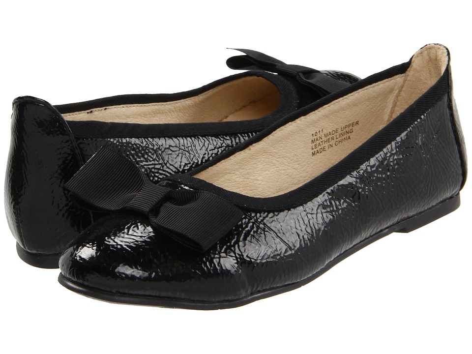 Pazitos - Firefly BF PU (Little Kid/Big Kid) (Black) Girls Shoes