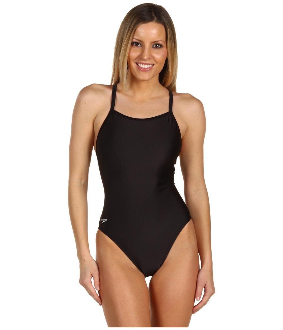 Speedo - Core Flyback (Black) Women's Swimwear