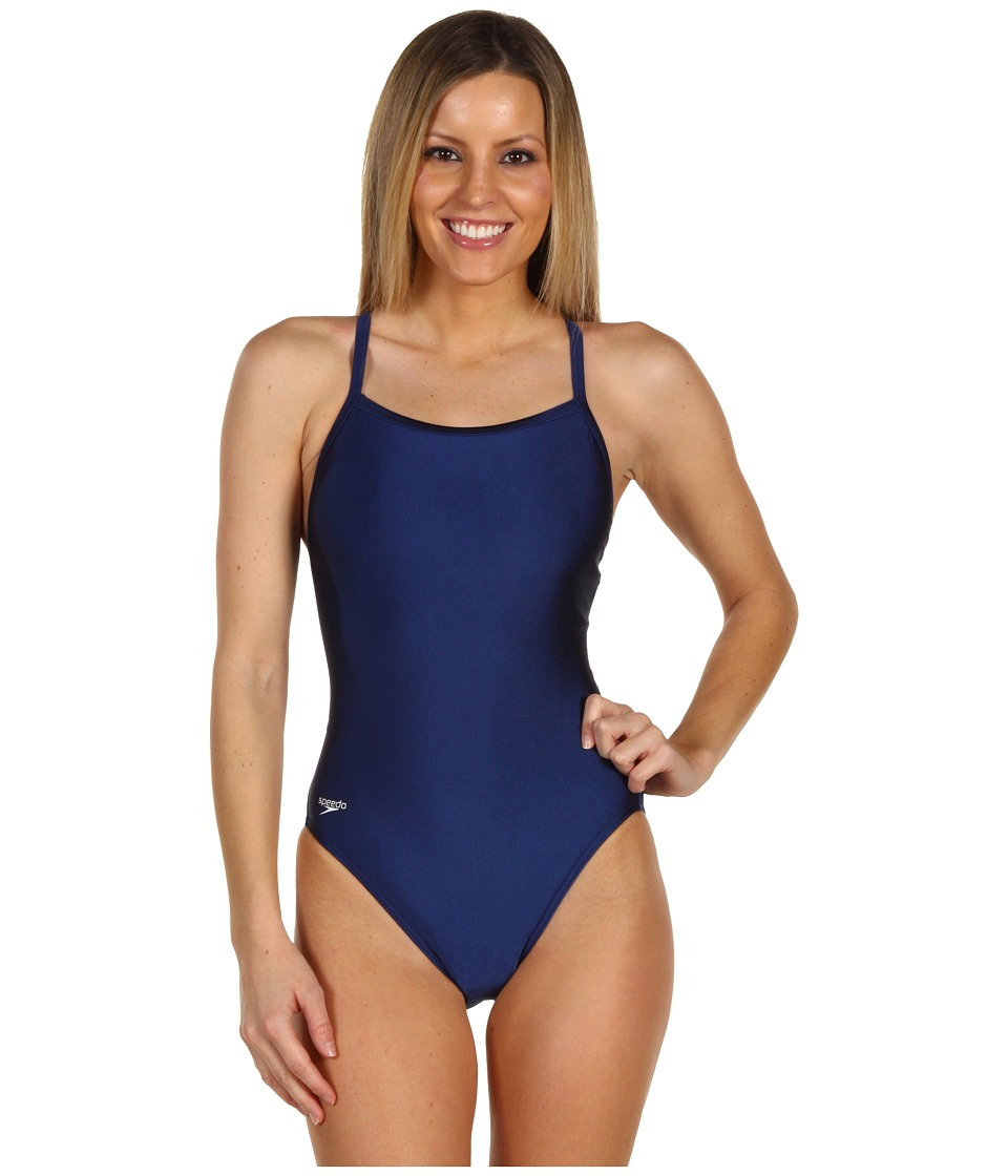 Speedo - Core Flyback (Navy) Women's Swimwear