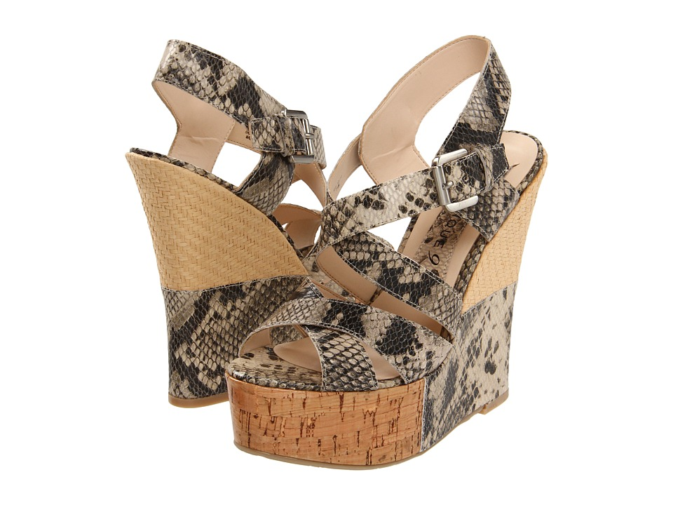 Boutique 9 - Faleen (Light Natural Multi Reptile) Women's Wedge Shoes