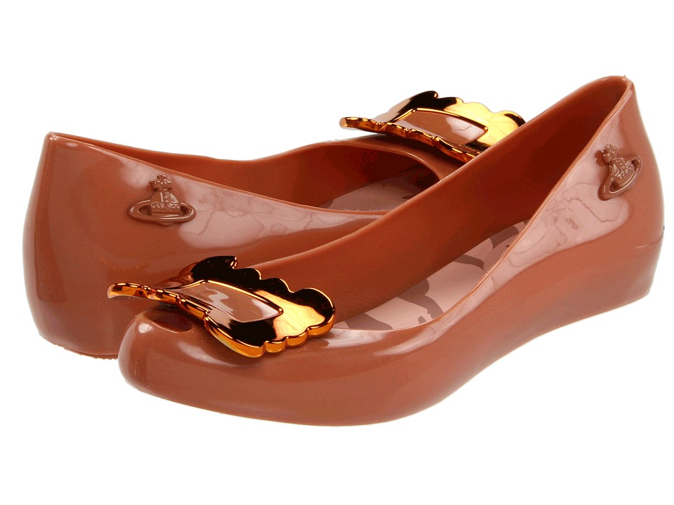 Vivienne Westwood - Anglomania + Melissa Ultragirl VII (Brown with Buckle) Women's Flat Shoes