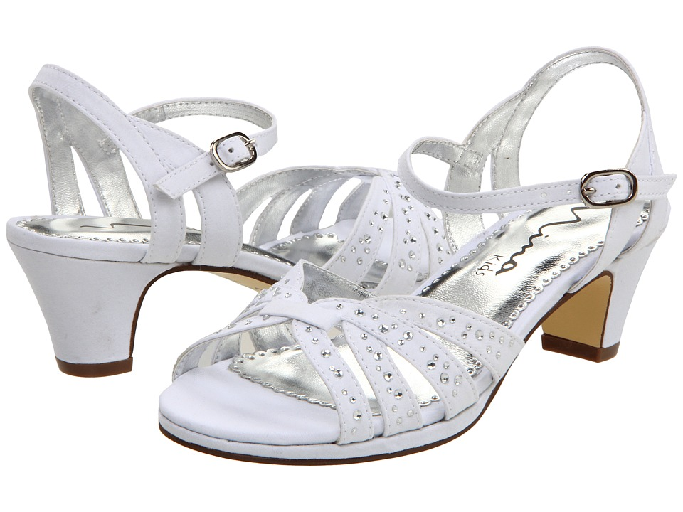 Nina Kids - Wendy (Little Kid/Big Kid) (White Satin) Girl's Shoes