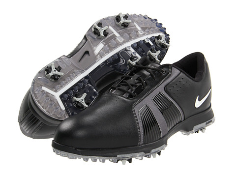Nike Golf - Zoom Trophy II (Black/Metallic Silver/Metallic Dark Grey) Men's Golf Shoes