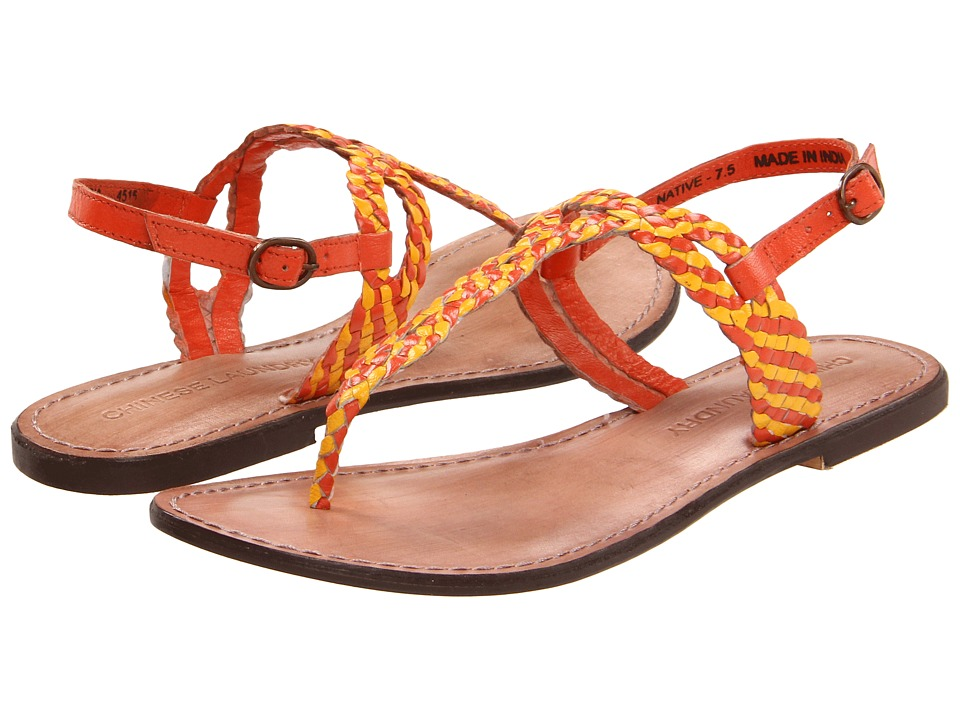 Chinese Laundry - Native (Orange Leather) Women's Sandals