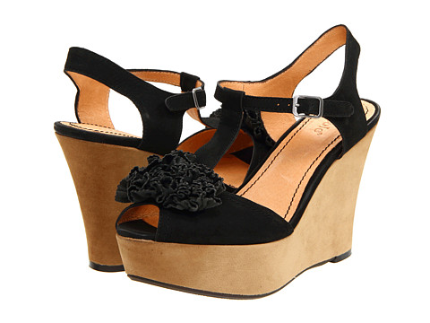 Nicole - Abloom (Black) Women's Wedge Shoes