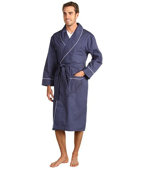 Nautica - Mediterranean Dot Print Robe (Peacoat) Men