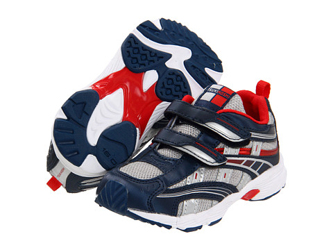 Tsukihoshi Kids - Flame (Toddler/Little Kid) (Navy/Silver) Boys Shoes