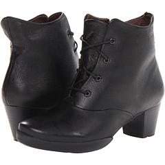 Wolky Cadenza (Black Leather) Footwear
