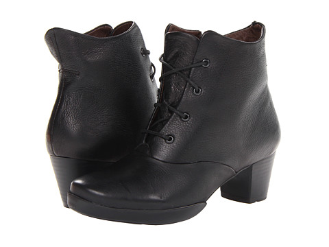 Wolky - Cadenza (Black Leather) Women's Boots