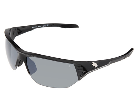 Spy Optic - Alpha Polarized (Black/Grey Polarized/Black Mirror (Rose/Blue Mirror)) Sport Sunglasses