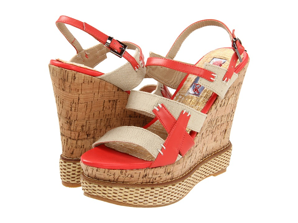 Two Lips - Beserk (Coral) Women's Wedge Shoes
