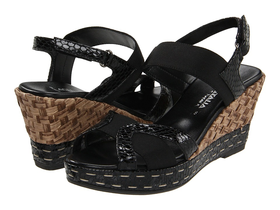 Aquatalia - Neve (Black Viper) Women's Wedge Shoes