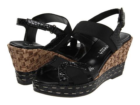 Aquatalia - Neve (Black Viper) Women's Wedge Shoes