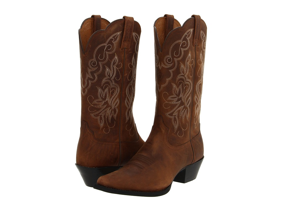 Ariat - Heritage Western J Toe (Distressed Brown) Cowboy Boots