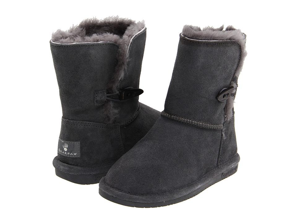 Bearpaw Kids - Abigail (Little Kid/Big Kid) (Charcoal) Girls Shoes