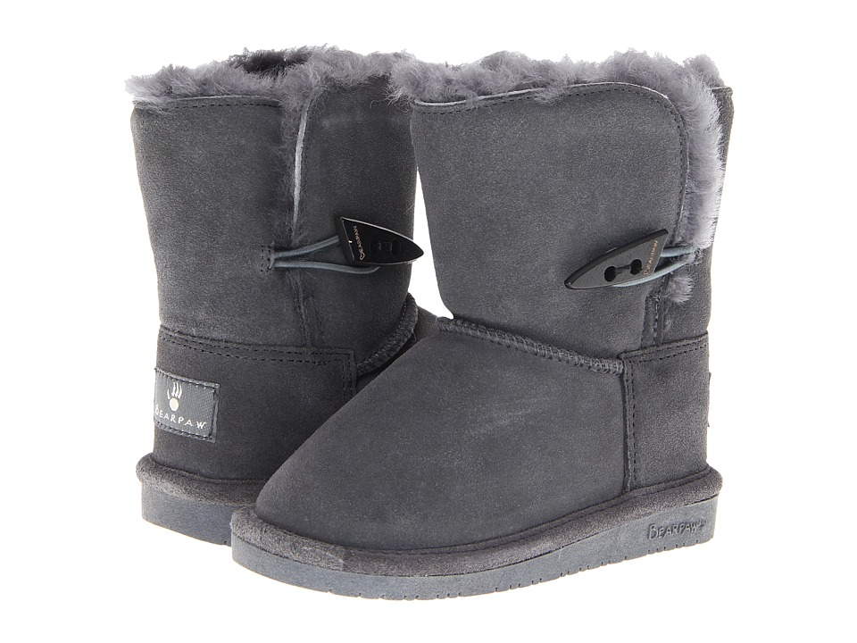 Bearpaw Kids - Abigail (Toddler) (Charcoal) Girls Shoes