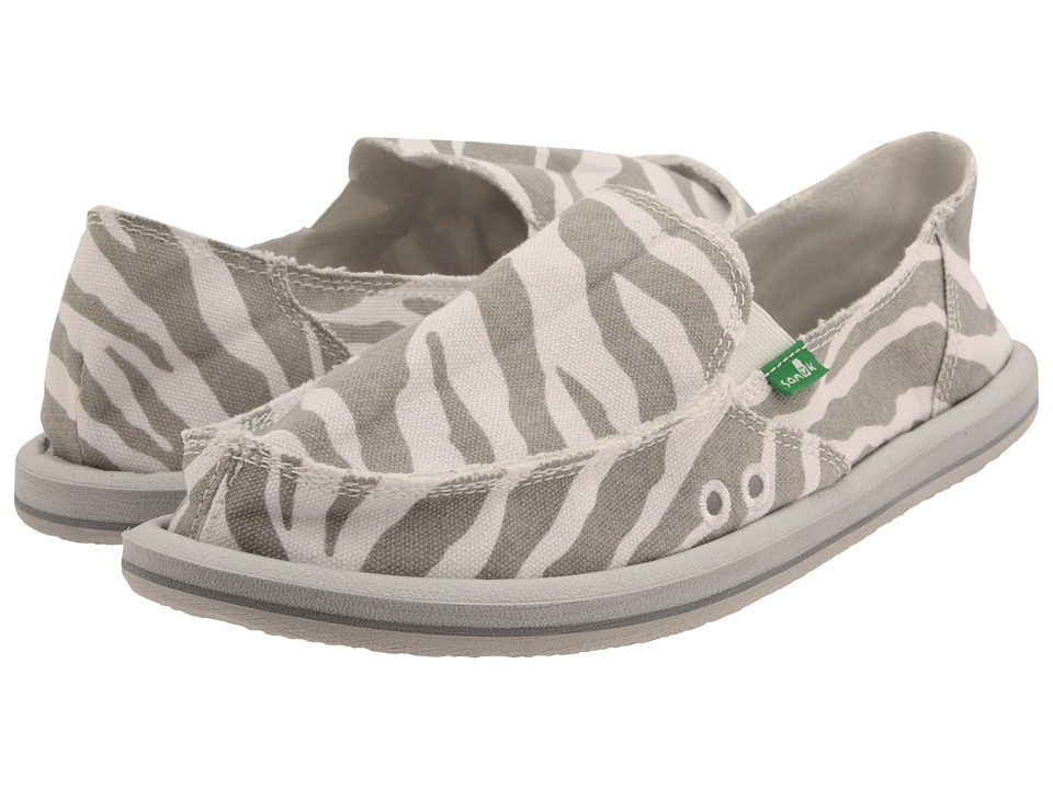 Sanuk - I'm Game (Zebra Grey) Women's Slip on Shoes