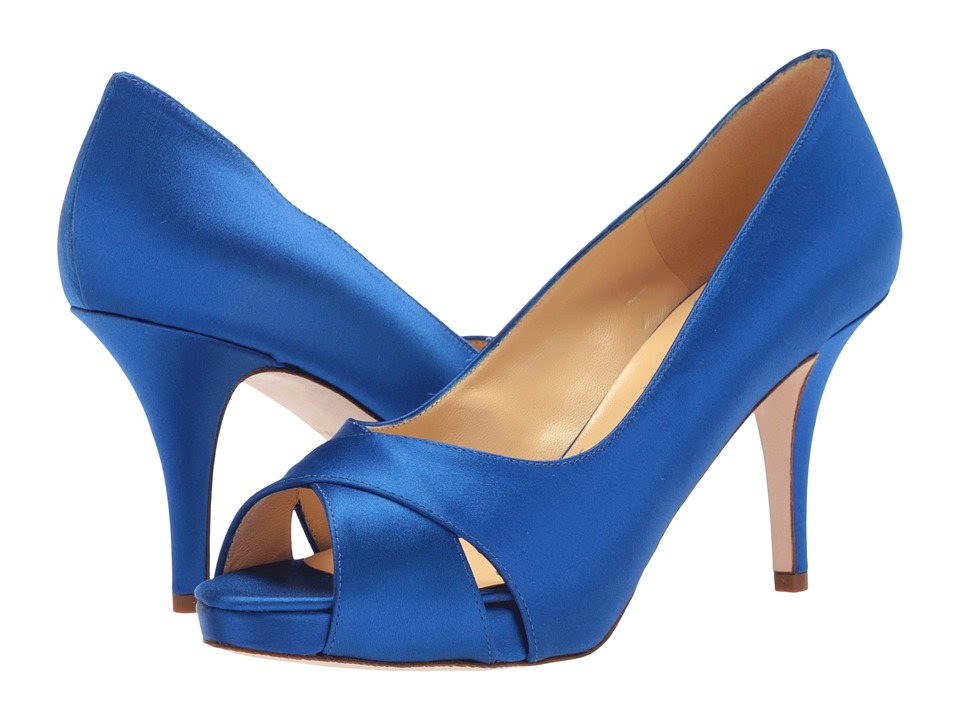 Kate Spade New York - Billie (Cobalt Satin) High Heels