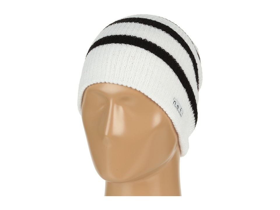 Neff - Daily Stripe Beanie (White/Black) Beanies