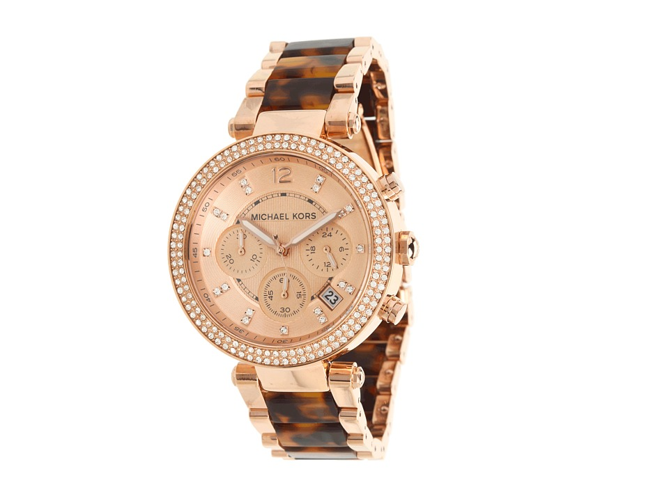 Michael Kors - Parker Watch MK5538 (Rose Gold & Tortoise) Chronograph Watches